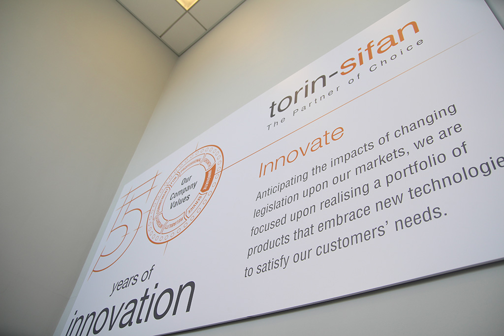 An example of a industrial signage Torin-Sifan-Internal-Signage