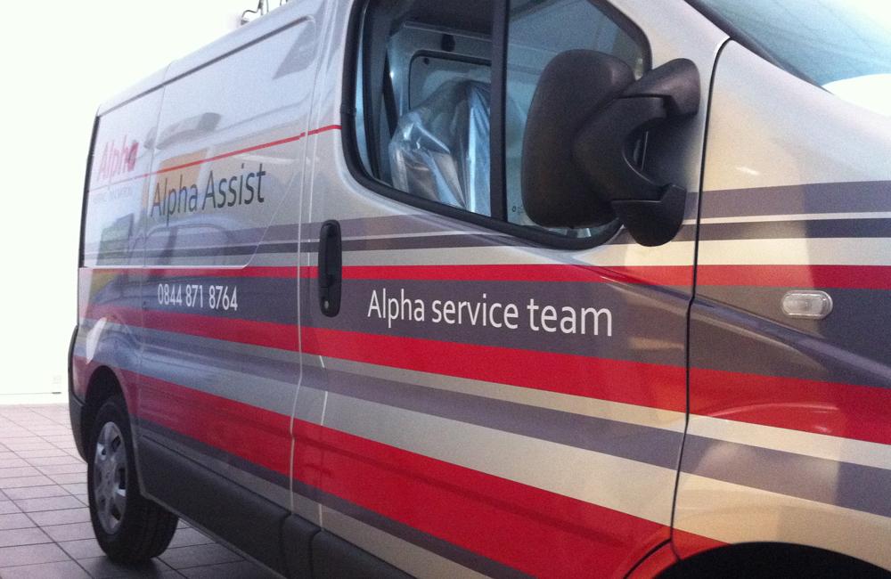 Alpha vehicle livery